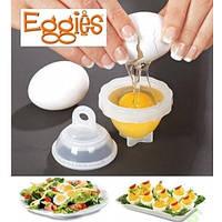 Набір контейнерів для варіння яєць без шкаралупи з 6 шт Eggies / Набор контейнеров для варки яиц без скорлупы.
