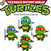 """Конструктор Черепашки-Ниндзя - """"Turtles Constructor"""" - 4 шт."""
