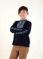 Детская трикотажная вышиванка на мальчика с длинным рукавом