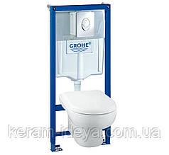 Комплект инсталляция Grohe 38721001 с унитазом и сидением soft-close 39191000
