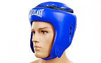Шлем боксерский открытый с усиленной защитой макушки FLEX ELAST VL-8206-B (синий,красный,черный р-р M-XL)