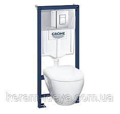 Комплект инсталляция Grohe 38772001 с унитазом и сидением soft-close 39186000