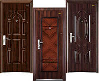 Китайские входные металлические двери эконом класса.