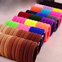 Резинки для волос  цветная Ø4см 50 шт.