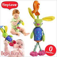 Погремушка Tiny Love Кролик-колокольчик с прищепкой для коврика, коляски, автокресла