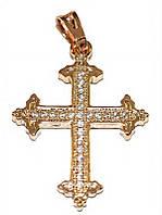 Крестик ХР позолота , камень -белый циркон, Высота 3 см. ширина 20 мм.