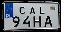 Сувенирный  американский номер европейского образца польши, германии, литвы