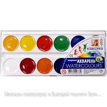 Краски акварельные медовые Луч Классика 12 цветов с/к 19С1287-08