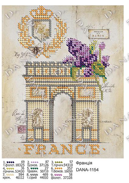 Схема для вышивки бисером Франция