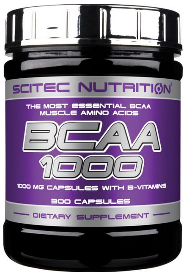 Аминокислоты Scitec Nutrition - BCAA 1000 (300 капсул)