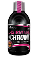 Карнитин BioTech - L-Carnitine + Chrome (500 мл) orange/апельсин, 500 мл, Венгрия, банка, 7,696 гр