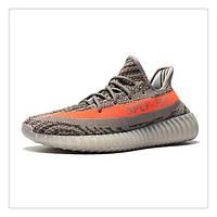 Женские кроссовки Adidas Yeezy Boost 350 V2 grey-orange, фото 1