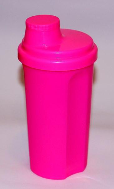 Шейкер 700 мл неон розовый