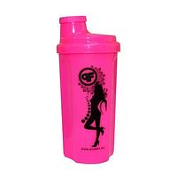 Shaker Pink Fit 500 ml Pink-Black Neon (шейкер розовый)