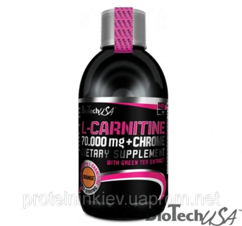 Карнитин BioTech - L-Carnitine 70.000 mg + Chrome (500 мл) апельсин