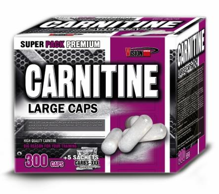 L-Carnitine 1000 mg + 200 грамм Carbs-XXX Vision Nutrition 300 caps.