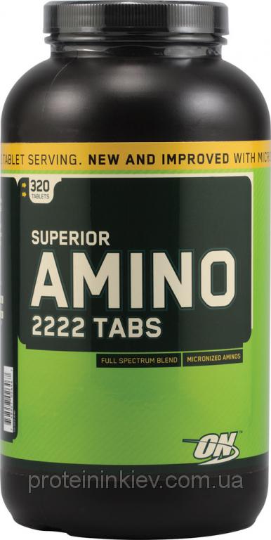 Аминокислоты Optimum Nutrition - Superior Amino 2222 (320 таблеток)