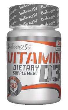 Витамины BioTech - Vitamin D3 50 мкг (60 таблеток)