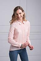 Блуза из креп-шифона удлиненная спинка с разрезом к низу