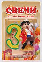 Свечка для торта цифра (Пират), фото 1