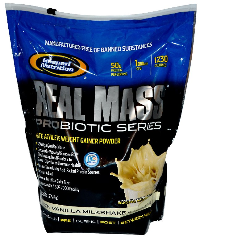 Real Mass Pro Bag Gaspari Nutrition 2724 грамма (гейнер)