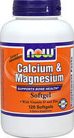 Calcium & Magnesium Now Foods 120 softgels (минералы)