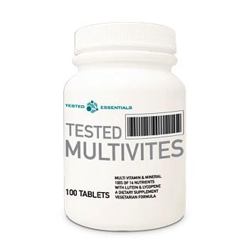 Multivites Tested Nutrition 100 tabs.