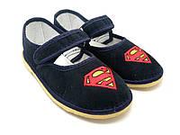Обувь детская домашняя 100-В Супермен. Размеры: от 20 до 27.