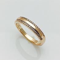 Кольцо два ряда камней, размер 17, 18, 19, 20