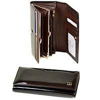 Кошелек женский кожаный лаковый Bretton Gold W1-V brown, фото 1