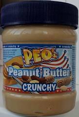 Арахисовая паста PEO`s Peanut Butter Crunchy - 340 гр.
