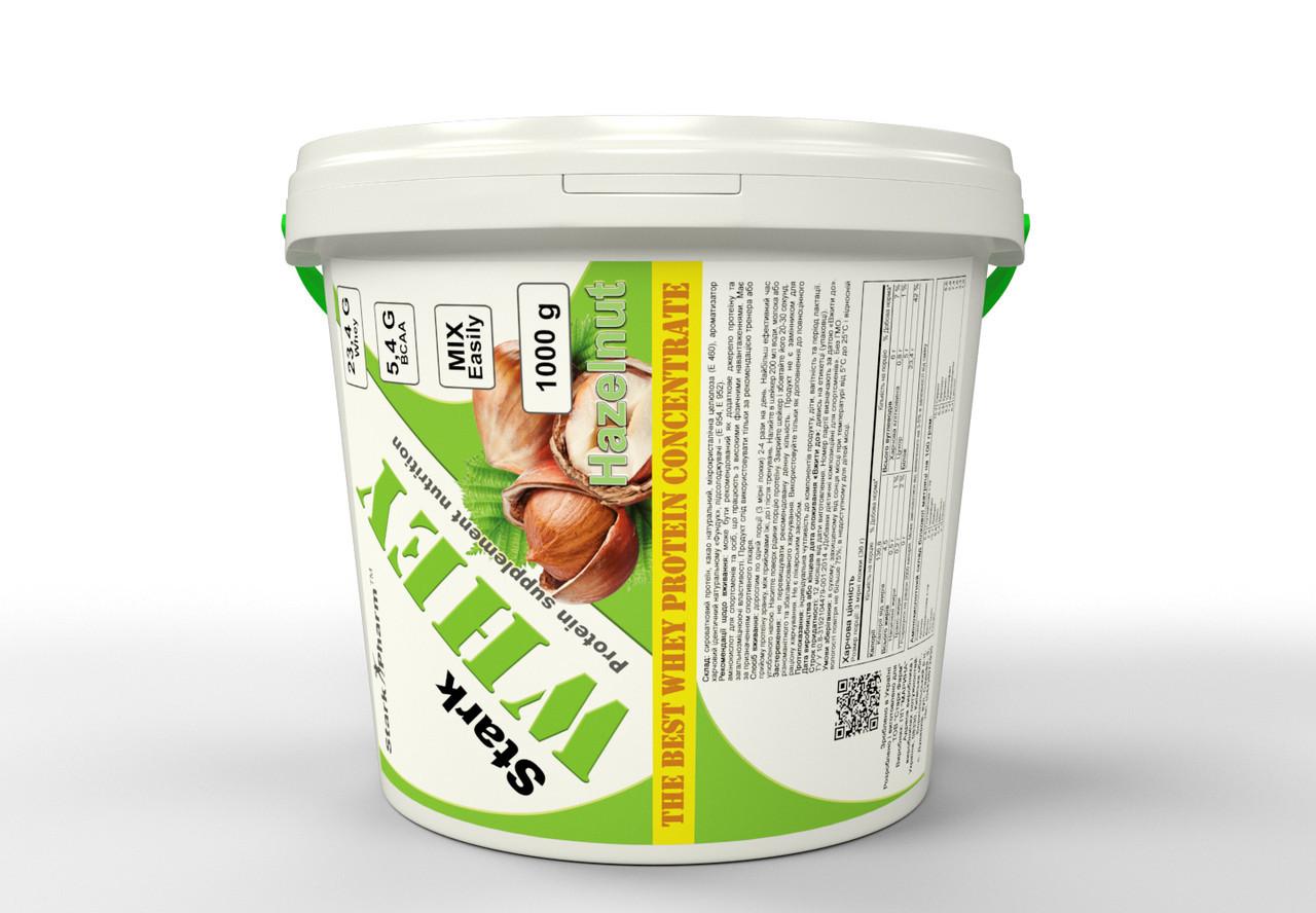 Сывороточный протеин Гадяч, вкусы: шоколад, фундук, банан, ваниль, вишня, клубника, апельсин (1000 г) банка