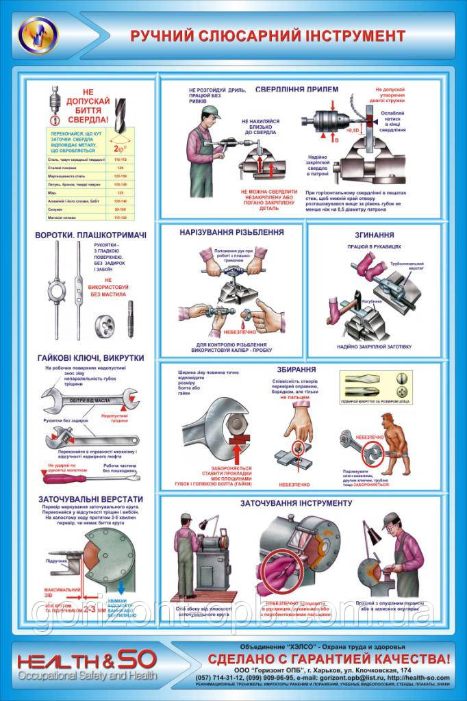 Стенд по охране труда «Ручной слесарный инструмент» №2