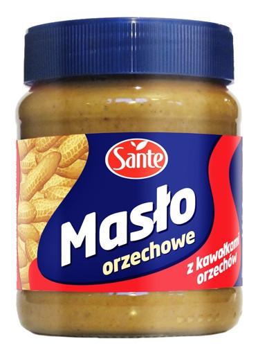 Арахисовое масло с кусочками орехов Sante 350 грамм (Польша)