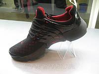 Кроссовки Nike Air Presto черные с красным