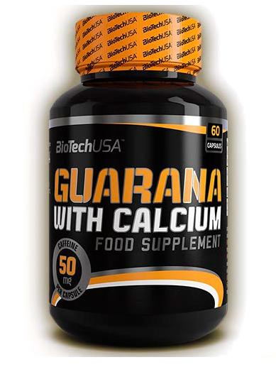 Guarana with Calcium BioTech USA 60 caps.
