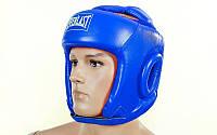 Шлем боксерский открытый с усиленной защитой макушки PU ELAST BO-4492-B (синий,красный,черный р-р S-L)