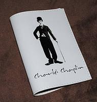 Обложка для паспорта женская -Чарли Чаплин-