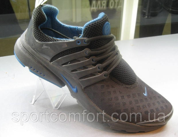 Кроссовки Nike Air Presto т. серые с голубым