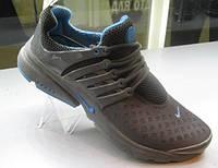 Кроссовки Nike Air Presto т. серые с голубым, фото 1