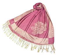 Палантин Нежная Роза из вискозы и кашемира, розовый