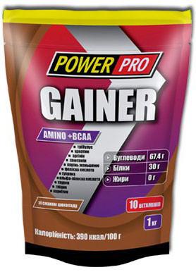 Гейнер Power Pro - Gainer (1000 грамм) 1000 г, chocolate/шоколад