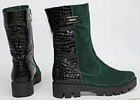 Женские ботинки на тракторной подошве, натуральная кожа и замш. Разные цвета