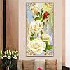 """Картина для рисования камнями Diamond painting Алмазная вышивка """"Белые розы"""""""