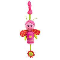 Погремушка Tiny Love Бабочка-колокольчик с прищепкой для коврика, коляски, автокресла