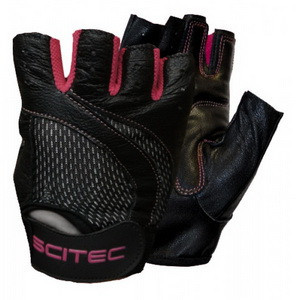 Pink Style Scitec Nutrition кожаные перчатки