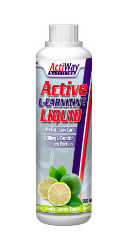 Active L-carnitine liquid ActiWay Nutrition 500 ml