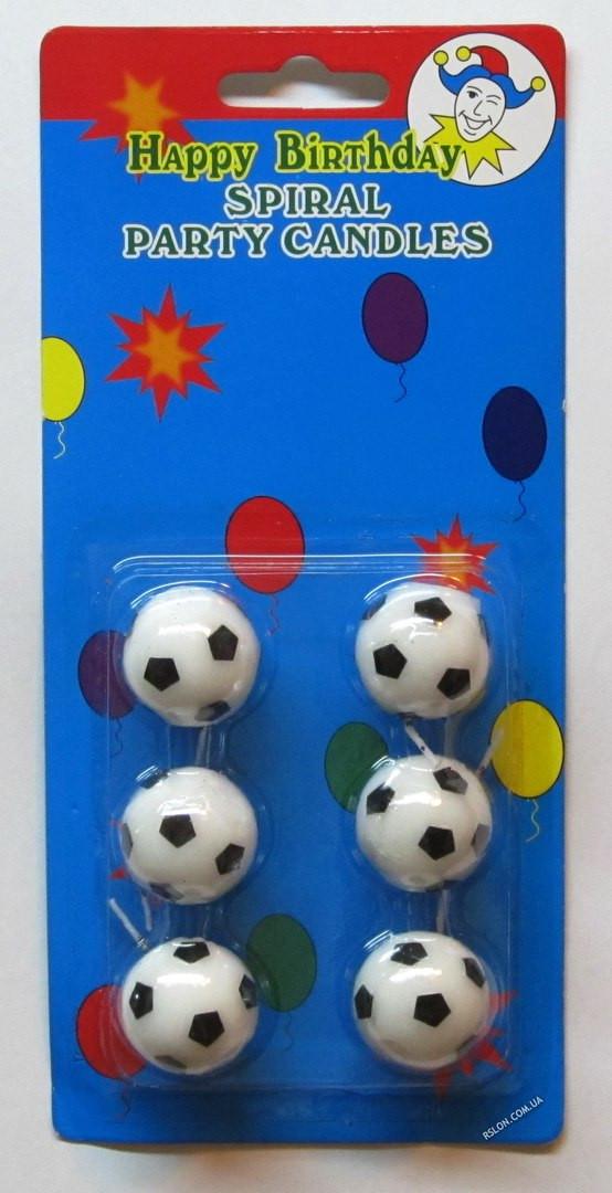 Свечи для торта (футбольные мячи)