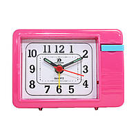 Будильник №136 часы настольные с подсветкой (темно-розовый)