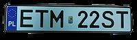 Польский номер на автомобиль